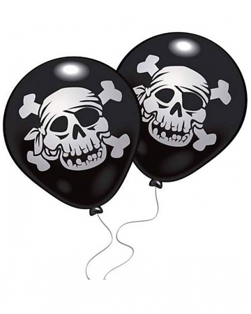 Pirate Balloons Jolly Roger 10 pcs.
