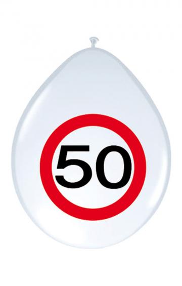 Luftballon Verkehrsschild 50