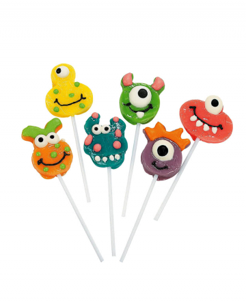 Funny Monster Lollipop 12 Pcs.