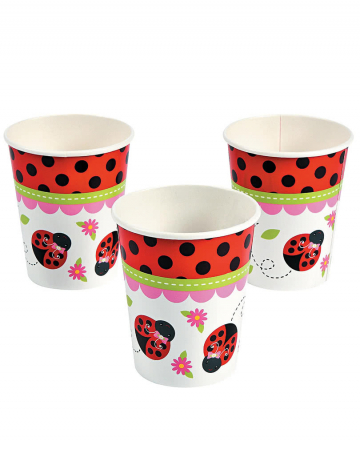 Ladybug paper cups