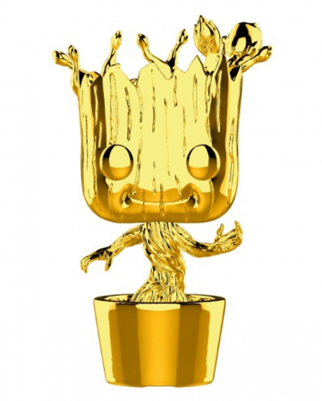 Marvel Groot Chrome Funko Pop! Figure Gold