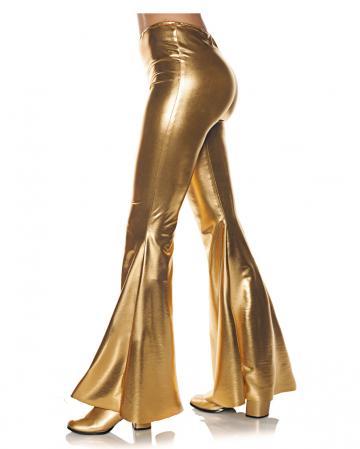 Metallic flare pant gold
