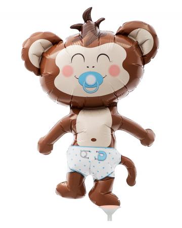 Mini-Folienballon Baby Boy Äffchen
