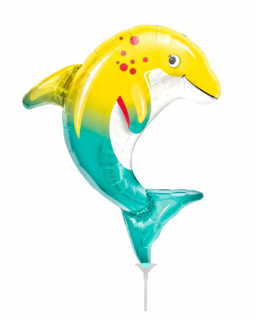 Mini-Folienballon Lustiger Delfin