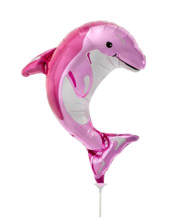Mini-Folienballon Delfin pink