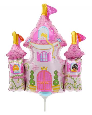 Mini foil balloon Princess Castle