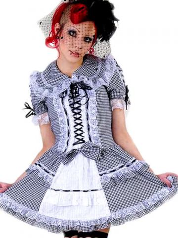 Mini dress black and white Plaid Gr. M