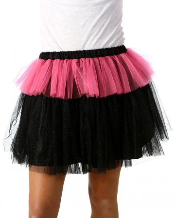 MonStar Glitter Tulle Skirt Black-pink