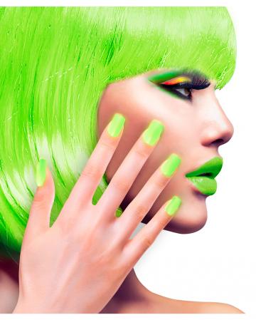 Neon Airbrush Fingernails Neon Green