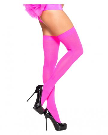Neon Pinke 80s Overknees