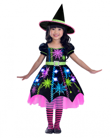 Neon Spider Witch Toddler Costume