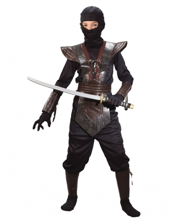 Ninja Fighter Kids Costume brown L