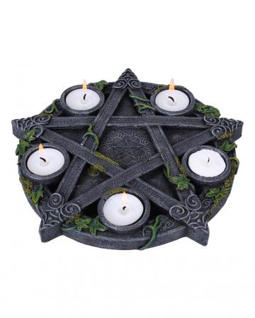 Okkulter Pentagramm Teelichthalter