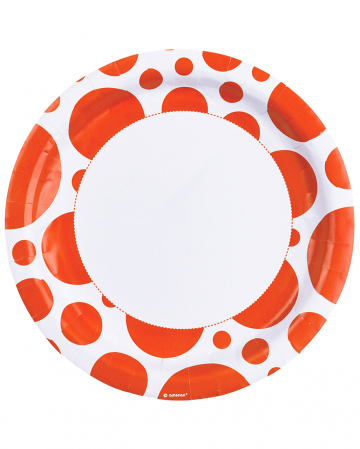 Orange Dots Pappteller 8 St.