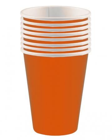 Pappbecher orange 8 St.