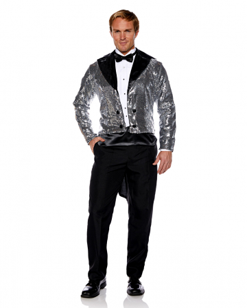 Sequins costume tailcoat silver