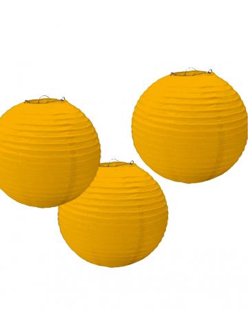 Paper Lampion Set 3 Pcs Yellow