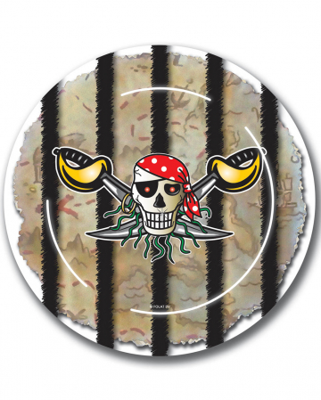 Red Pirate Paper Plates