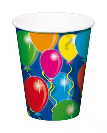 Pappbecher Ballons 8 St.