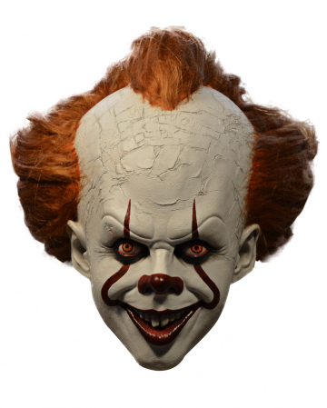 Pennywise IT Deluxe Mask With Hair