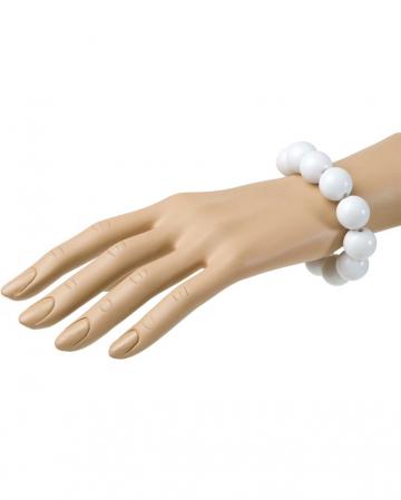 Weißes 70er Jahre Perlenarmband