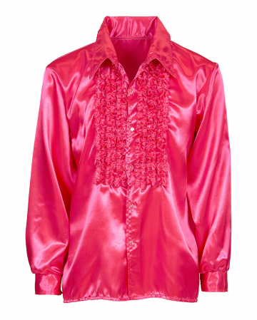 70s Disco Fashion Shirt Pink
