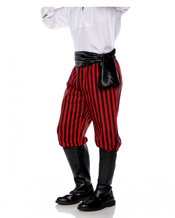 Pirate costume trousers black-red striped