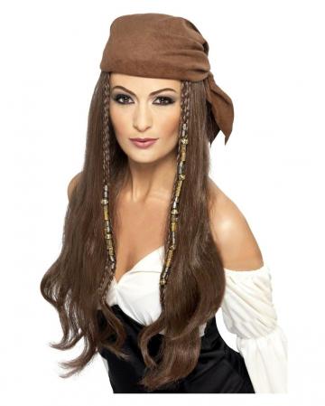 Pirate Lady Wig With Bandana