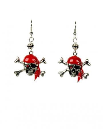 Piraten Totenkopf Ohrringe