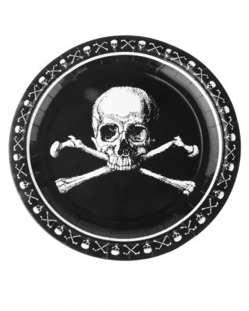 Piraten Totenkopf Pappteller