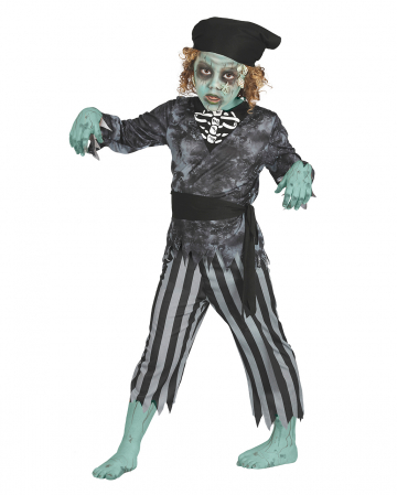 Pirate Zombie Child Costume 4pcs