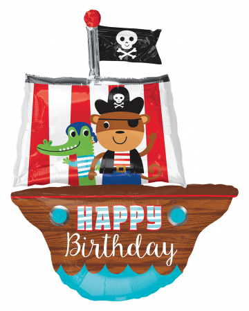 Pirate Ship Foil Balloon Birthday 86cm
