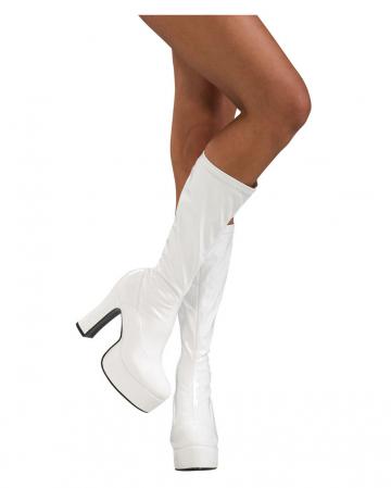 Plateau Lacquer Boots White Gr.36-37