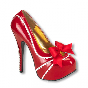 Platform pumps with bow