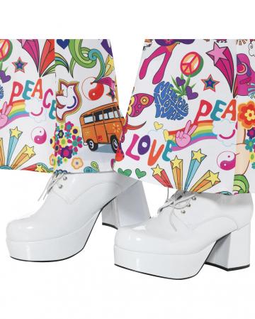 Herren Disco Plateau Schuhe weiß