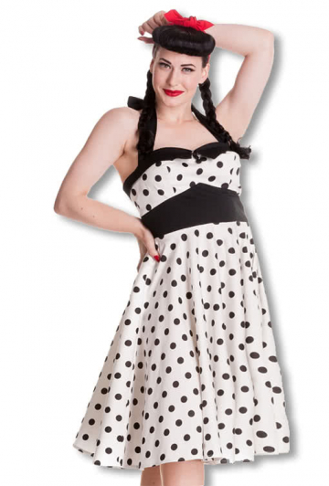 Polka Dot Halter Dress XXL