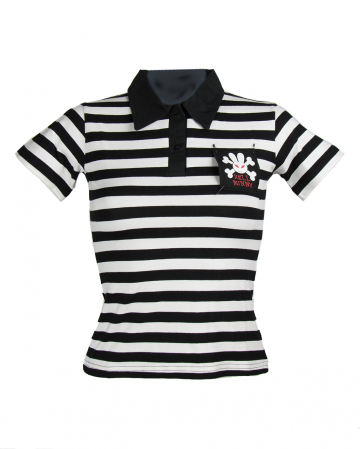 Poloshirt White-black