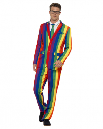 Regenbogen Anzug mit Jacket