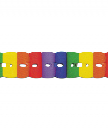 Rainbow garland 3m