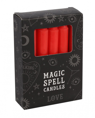 "Red ""Love"" Magic Candles 12 Pcs."