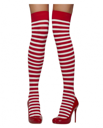 Striped Stockings Red-white