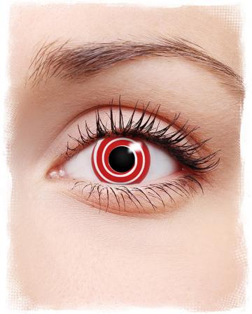 Rote Spirale Kontaktlinsen