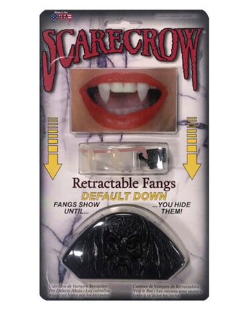 Scarecrow Retractable Vampire Teeth DOWN