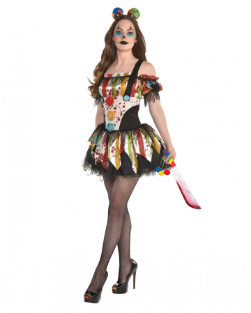 Scary Clown Petticoat Ladies Costume