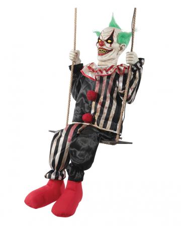 Schaukelnder Horror Clown Chuckles Animatronic