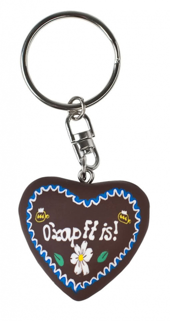 Key Chain Gingerbread Heart