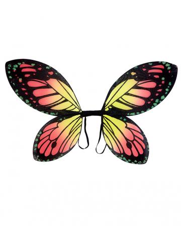Schmetterlingsflügel Schwarz/Orange Kindergröße