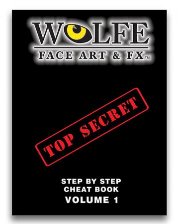 Make Up Book Face Art