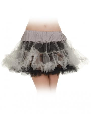 Schwarz-grauer Petticoat One Size