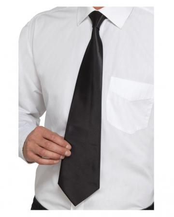 Schwarze Gangster Krawatte Deluxe